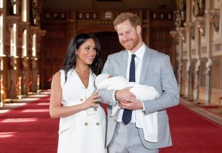 'It's magic': Prince Harry and Meghan show baby son to the world