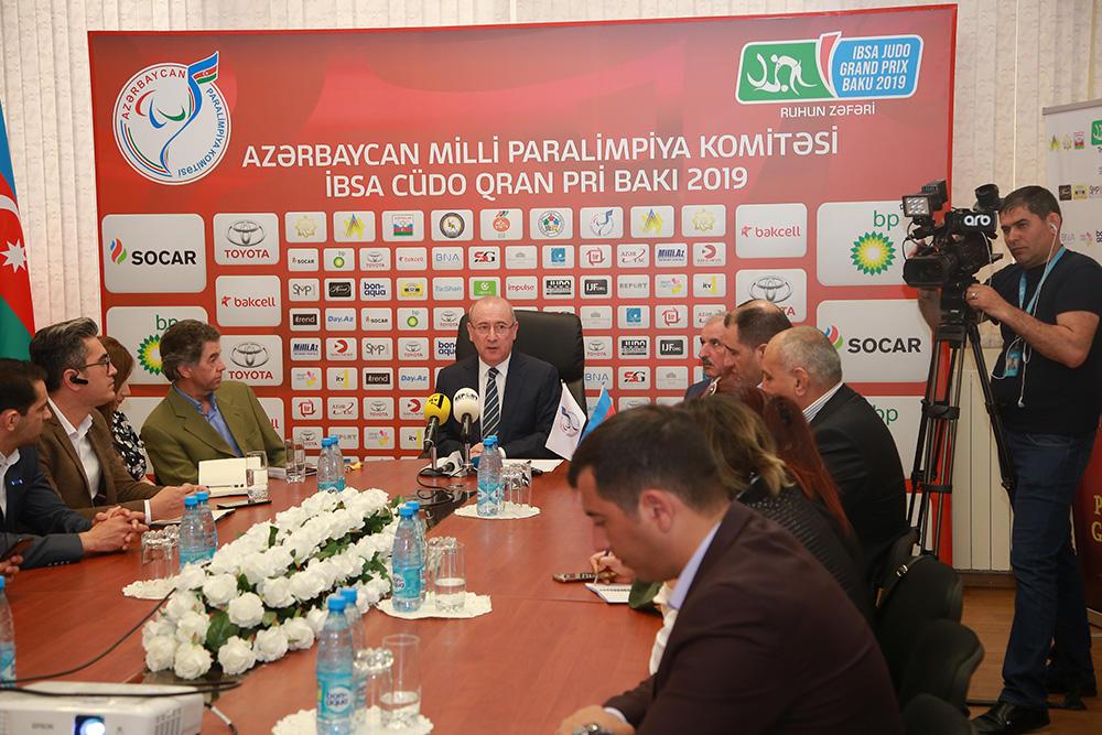 """""""IBSA Judo Baku Grand Prix 2019"""" yarışları ilə bağlı mətbuat konfransı keçirilib (FOTO) - Gallery Image"""