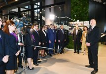 President Aliyev, First Lady Mehriban Aliyeva attend opening of administrative building of DOST Agency (PHOTO) - Gallery Thumbnail