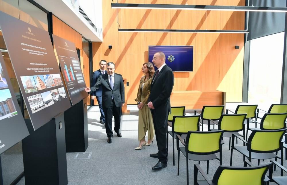 President Aliyev, First Lady Mehriban Aliyeva attend opening of administrative building of DOST Agency (PHOTO) - Gallery Image