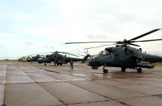 Azerbaijan's military helicopters leave for Turkey to participate in int'l exercises (PHOTO) - Gallery Thumbnail