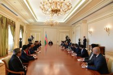 President Aliyev receives ambassadors, heads of diplomatic missions of Muslim countries to Azerbaijan (PHOTO) - Gallery Thumbnail