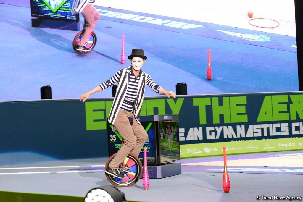 В Баку стартовал второй день соревнований 35-го Чемпионата Европы по художественной гимнастике (ФОТО) - Gallery Image
