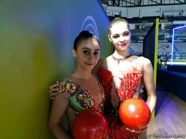 Azerbaijani gymnasts thank audience for support, say no rivalry between them