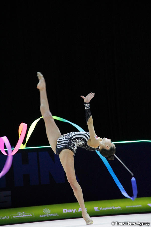 В Баку стартовал третий день соревнований 35-го Чемпионата Европы по художественной гимнастике (ФОТО) - Gallery Image