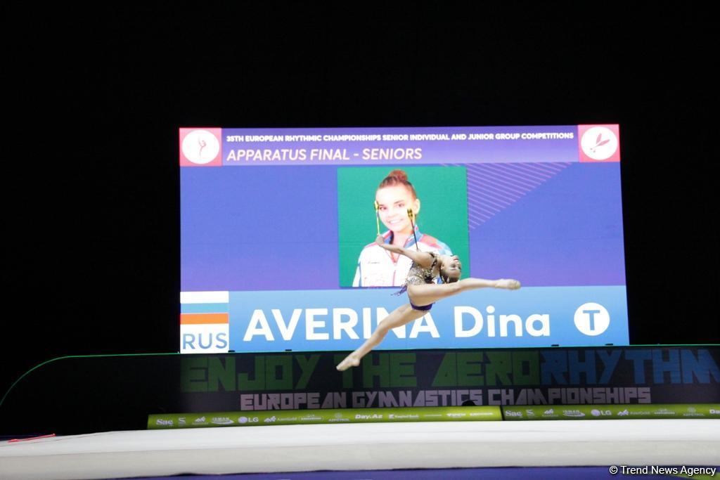Лучшие моменты финальных соревнований Чемпионата Европы по художественной гимнастике в Баку (ФОТО) - Gallery Image