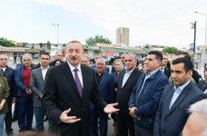Prezident İlham Əliyev Sabunçu dəmir yolu vağzalı kompleksinin açılışında iştirak edib (YENİLƏNİB) (FOTO) - Gallery Thumbnail