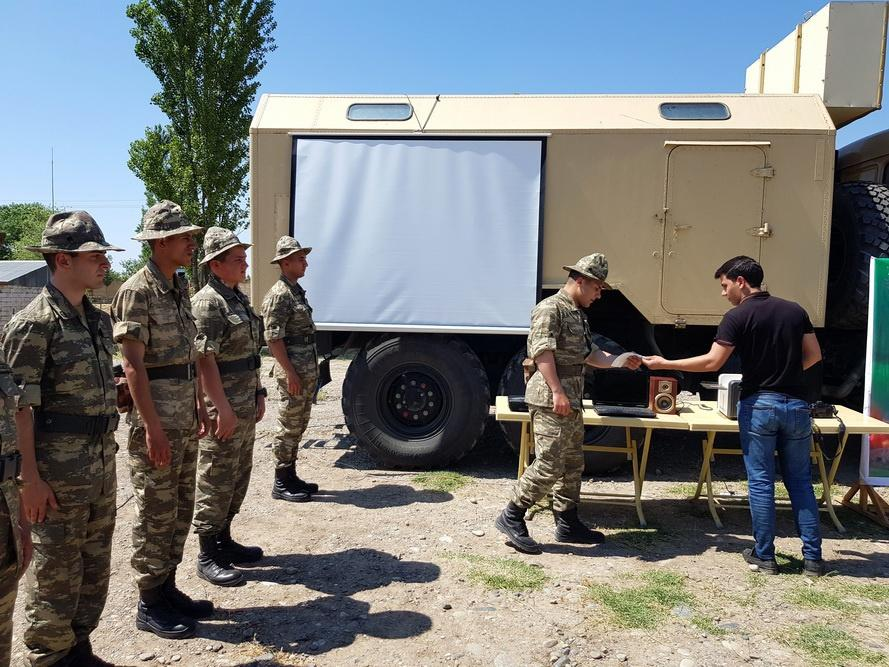 As part of Azerbaijani army exercises, support points have been created in field (VIDEO)