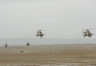 Azerbaijan talks on use of helicopters in operations against Armenian attacks