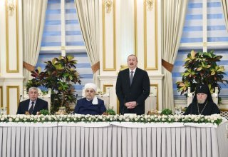 President Ilham Aliyev attended Iftar ceremony on the occasion of holy month of Ramadan (PHOTO)