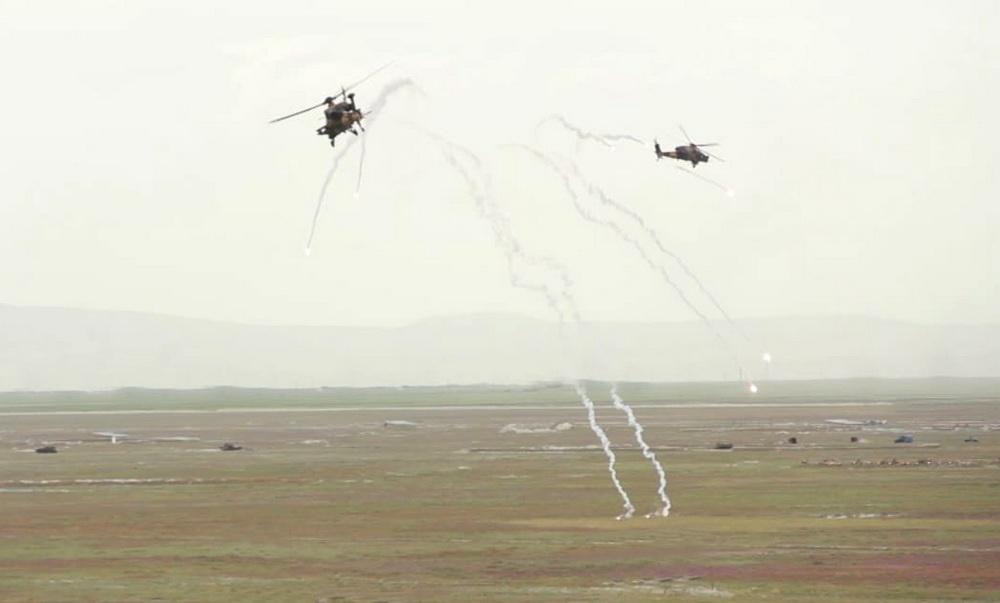 "Azerbaijan Army's helicopters fulfil tasks within ""Anatolian Phoenix-2019"" exercises in Turkey (PHOTO/VIDEO) - Gallery Image"