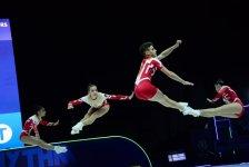 Bakıda aerobika gimnastikası üzrə 11-ci Avropa çempionatının final mərhələsi yarışları davam edir (FOTO) - Gallery Thumbnail