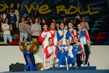 Winners among junior trios, groups within European Aerobic Gymnastics Championships awarded in Baku - Gallery Thumbnail