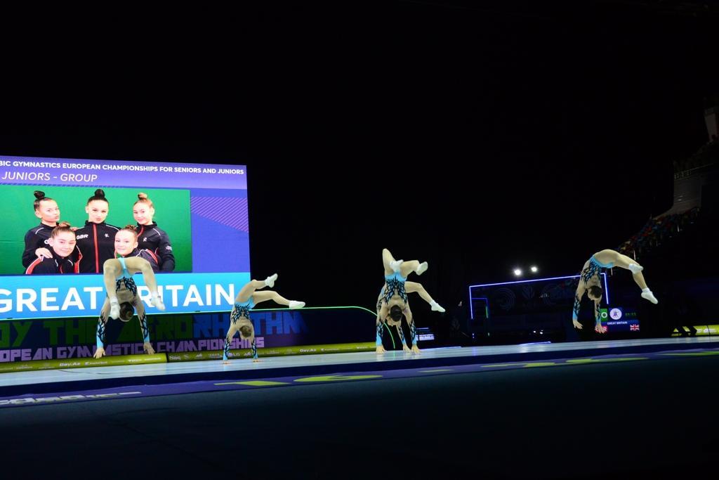 Bakıda aerobika gimnastikası üzrə 11-ci Avropa çempionatının final mərhələsi yarışları davam edir (FOTO) - Gallery Image