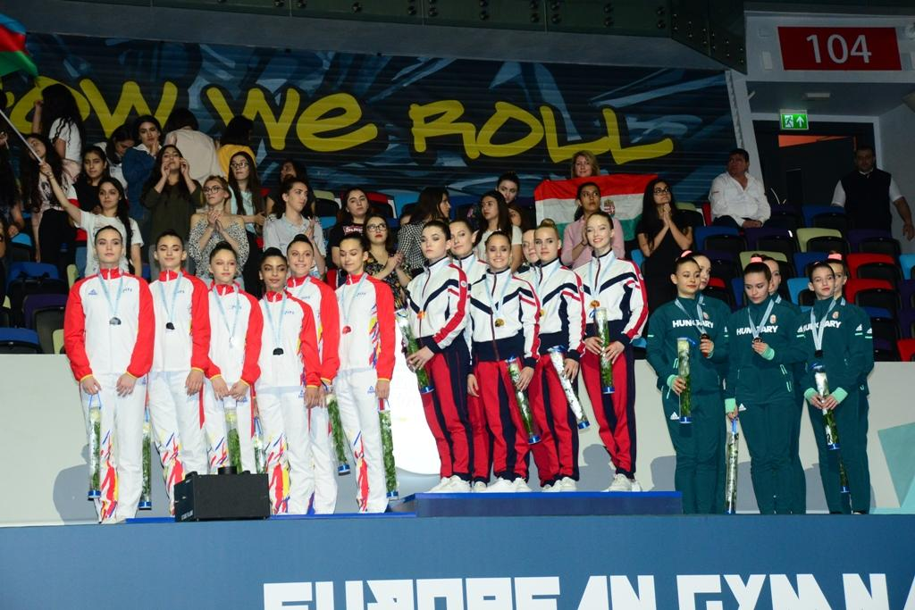 Winners among junior trios, groups within European Aerobic Gymnastics Championships awarded in Baku - Gallery Image