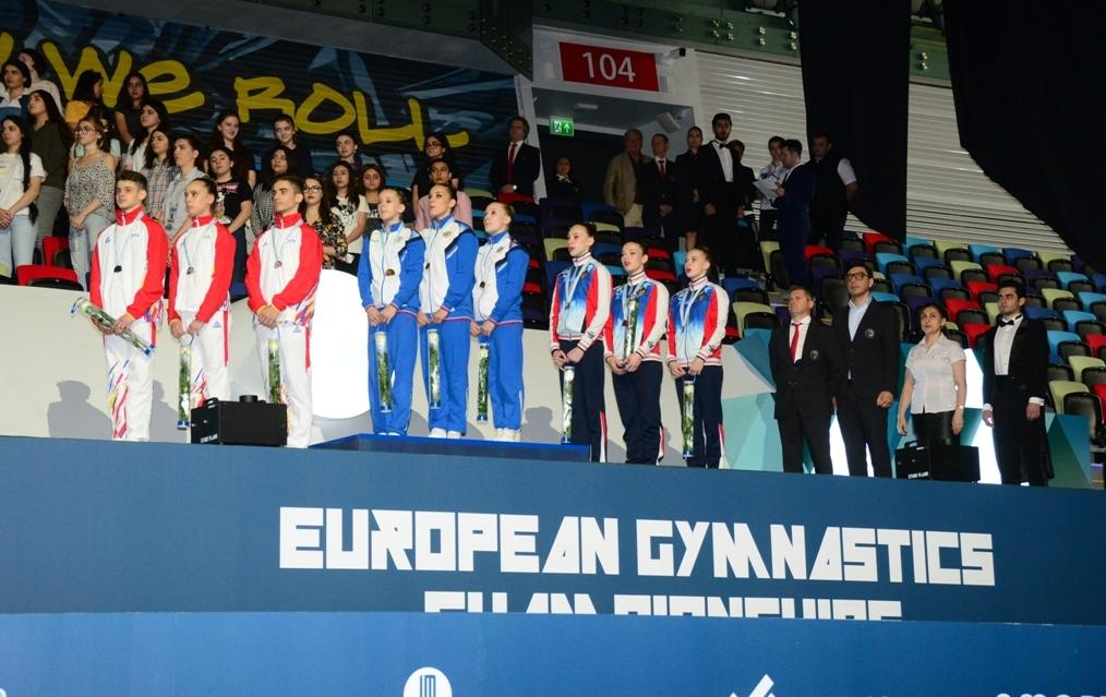 Winners among junior trios, groups within European Aerobic Gymnastics Championships awarded in Baku