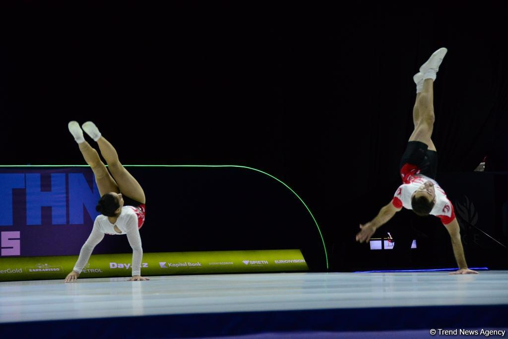 Best moments of 11th European Aerobic Gymnastics Championship finals in Baku (PHOTO) - Gallery Image