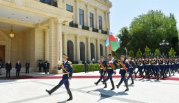 Official welcome ceremony held for Polish president in Baku (PHOTO) - Gallery Thumbnail