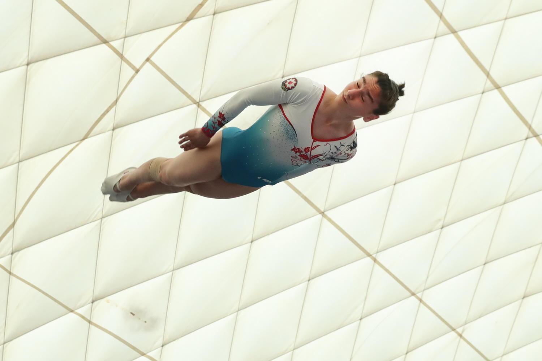 В столице Азербайджана проходят чемпионат и первенство Баку по прыжкам на батуте и тамблингу (ФОТО) - Gallery Image