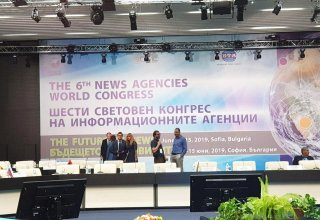 Trend news agency taking part in 6th News Agencies World Congress in Bulgaria (PHOTO)