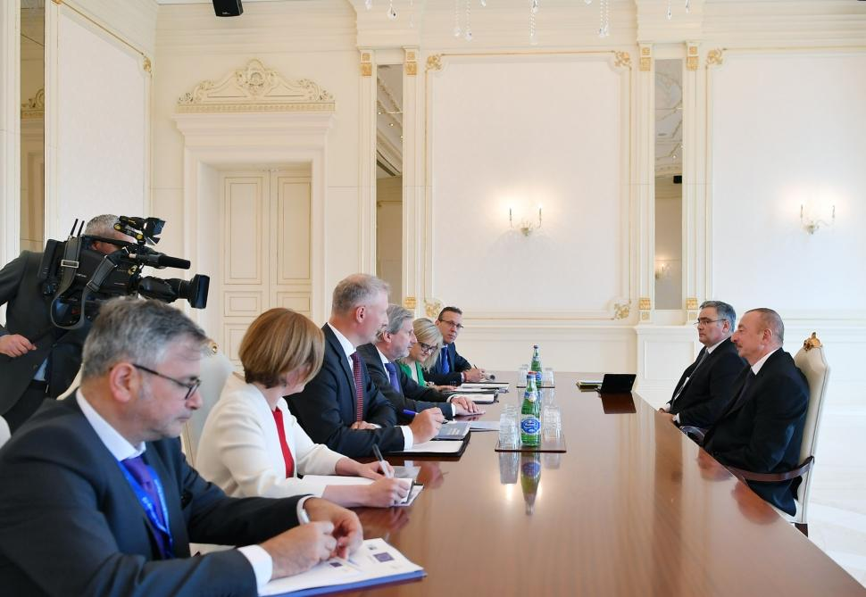 Azerbaijani President receives delegation led by EU Commissioner