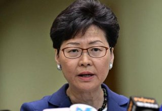 Hong Kong leader says not appropriate for her to comment on security law