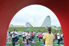 Heydər Əliyev Mərkəzinin parkında yoqa sessiyası təşkil olunub (FOTO) - Gallery Thumbnail