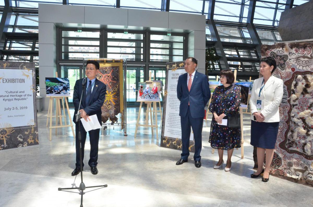 В рамках сессии ЮНЕСКО в Баку открылась выставка «Природное и культурное наследие Кыргызстана» (ФОТО) - Gallery Image