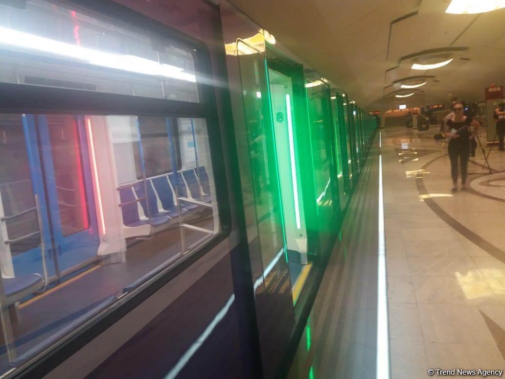 Bakı metrosuna yeni gətirilən qatarlar budur (FOTO) - Gallery Image