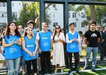 Вице-президент Фонда Гейдара Алиева Лейла Алиева приняла участие в открытии очередного благоустроенного двора в рамках проекта «Наш двор» (ФОТО) - Gallery Thumbnail