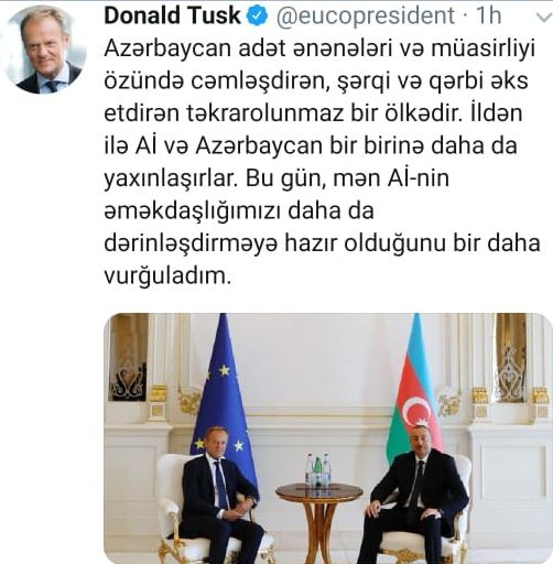 Donald Tusk: EU and Azerbaijan come closer to each other every year - Gallery Image