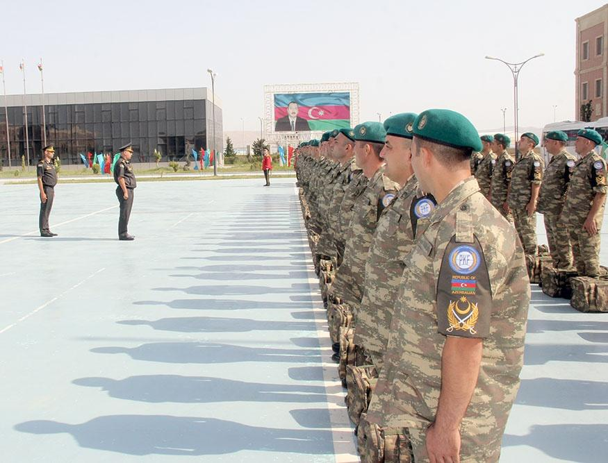 Group of Azerbaijani peacekeepers sent to Afghanistan (PHOTO/VIDEO) - Gallery Image