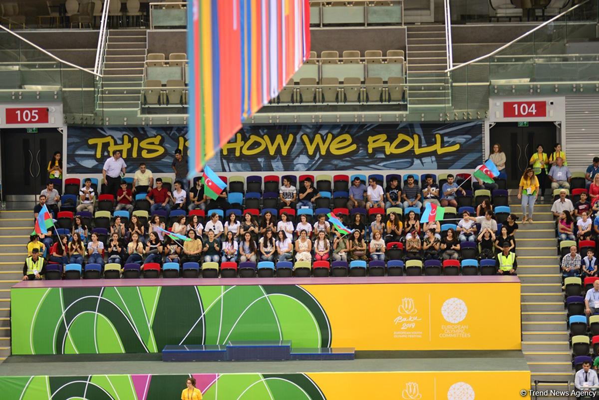 """В рамках """"EYOF Баку 2019"""" в Национальной арене гимнастики стартовали соревнования по спортивной гимнастике (ФОТО) - Gallery Image"""