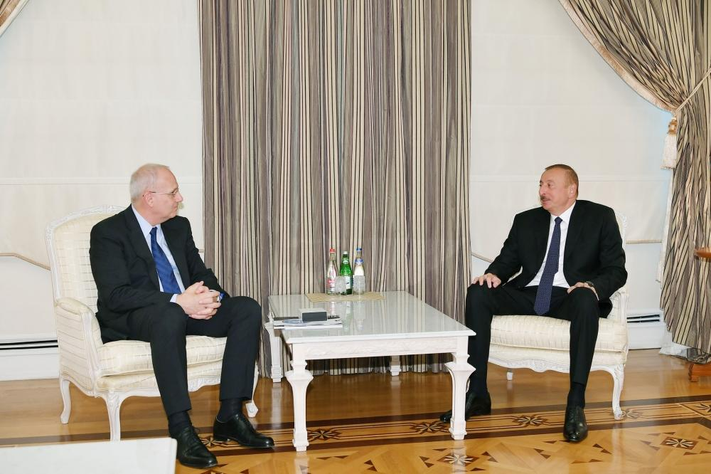 Azerbaijani president receives president of International Astronautical Federation