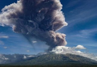 Indonesian volcano erupts near third-biggest city