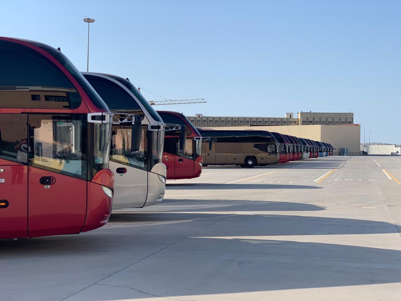 EYOF Bakı 2019-da qonaqların və atletlərin daşınmasına 140 avtobus və 38 miniavtobus cəlb edilib (FOTO)
