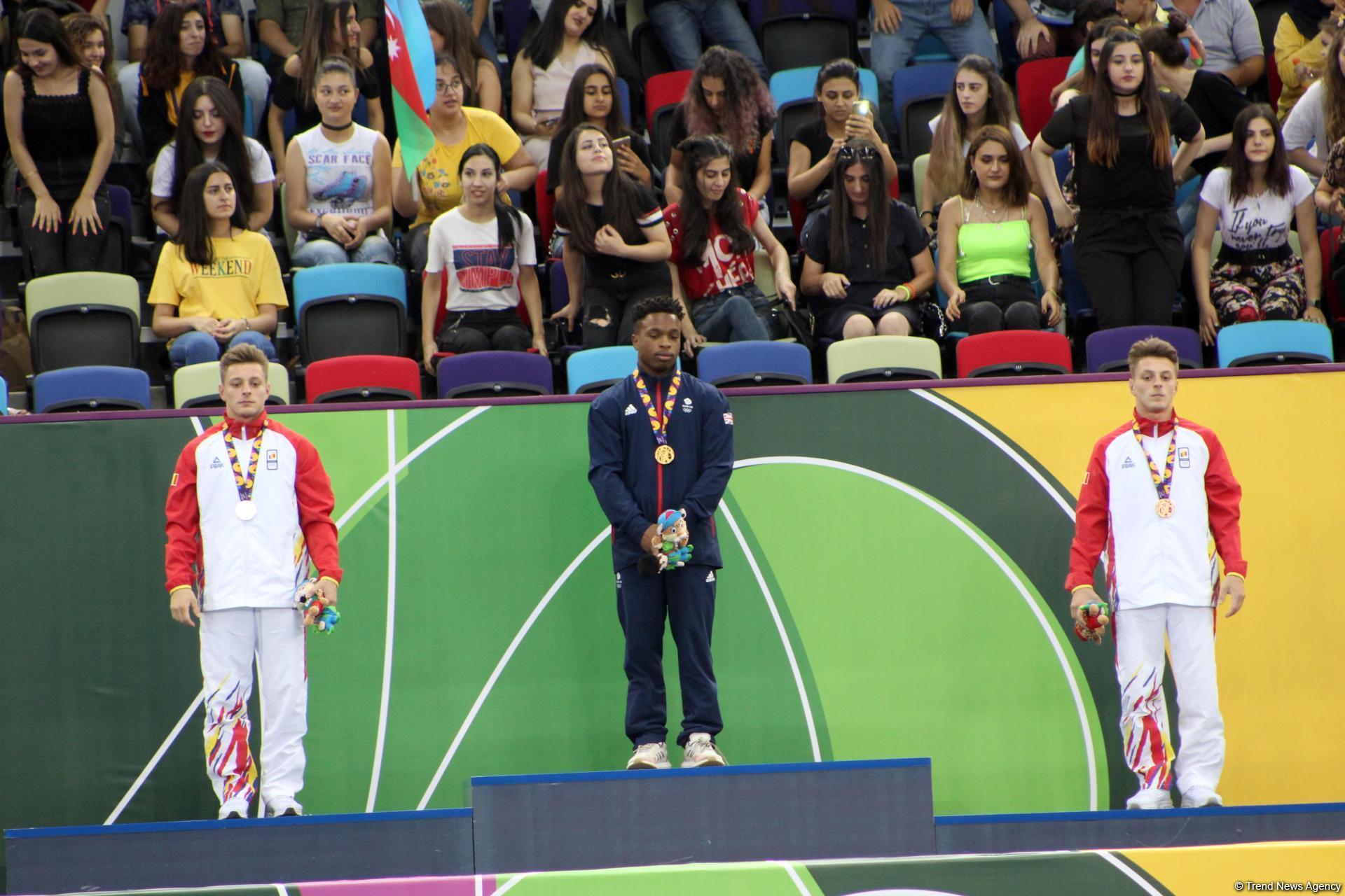 EYOF Baku 2019: Церемония награждения победителей в опорном прыжке и в упражнениях на бревне (ФОТО)