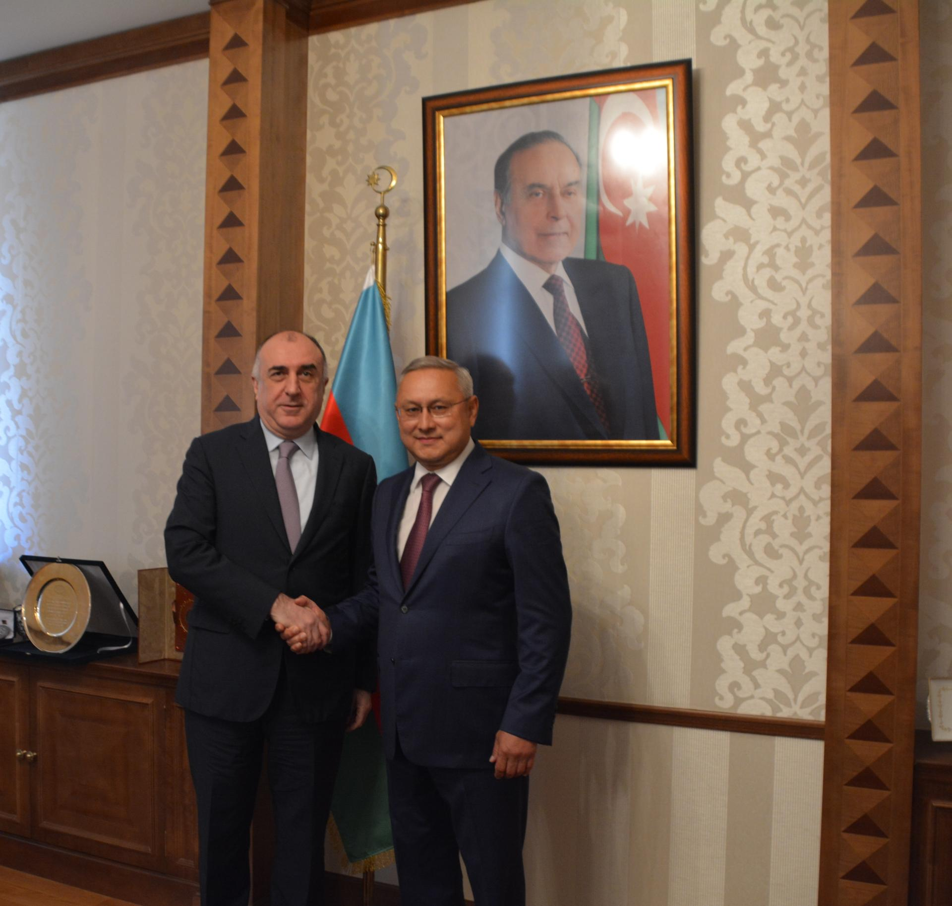 Azerbaijani FM receives ambassador of Kazakhstan upon completion of his diplomatic term (PHOTO) - Gallery Image