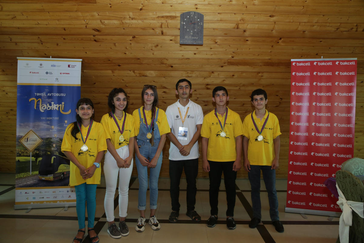"""Education Bus – Nasimi"" summer school held with support of Bakcell (PHOTO) - Gallery Image"