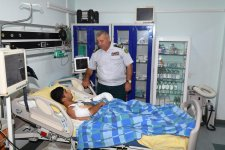 Wounded Azerbaijani border guard successfully operated on (PHOTO) - Gallery Thumbnail
