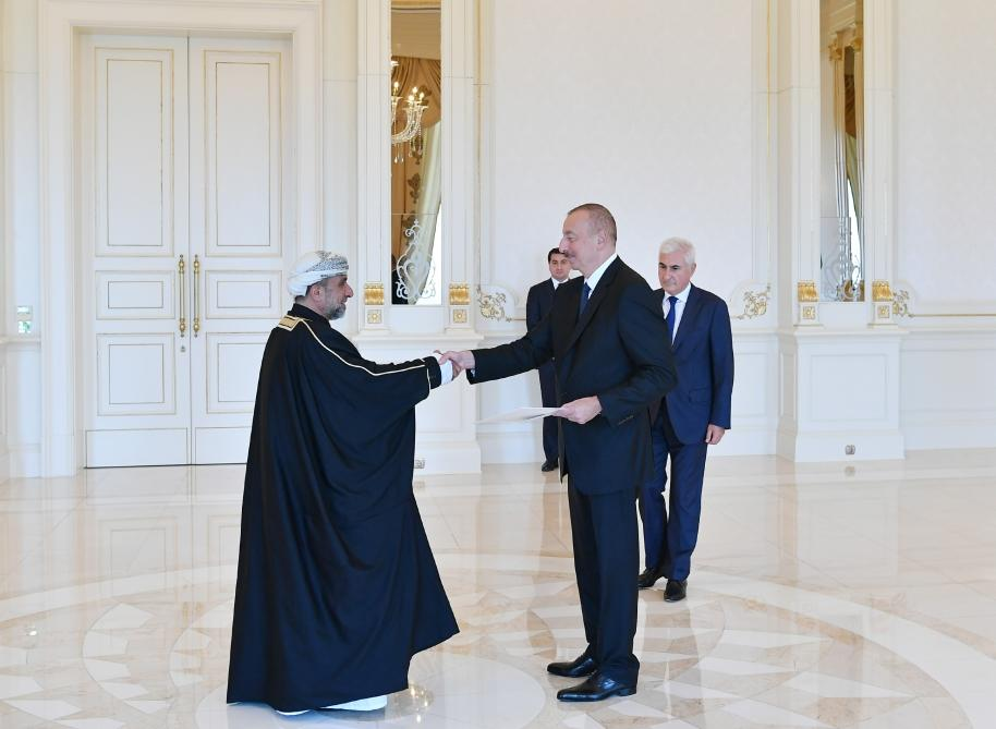 Azerbaijani president receives credentials of incoming Omani ambassador (PHOTO) - Gallery Image