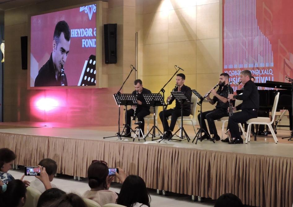 """Qəbələ Beynəlxalq Musiqi Festivalı çərçivəsində """"Clarte"""" klarnet kvarteti çıxış edib (FOTO) - Gallery Image"""