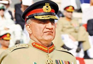 Pakistan army chief says military will 'go to any extent' to support Kashmir cause