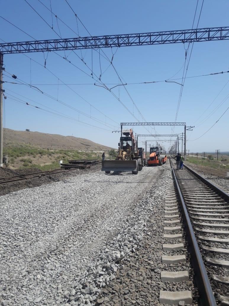 New railroad switches to be installed on Azerbaijan's Ganja-Boyuk Kasik railway line (PHOTO) - Gallery Image