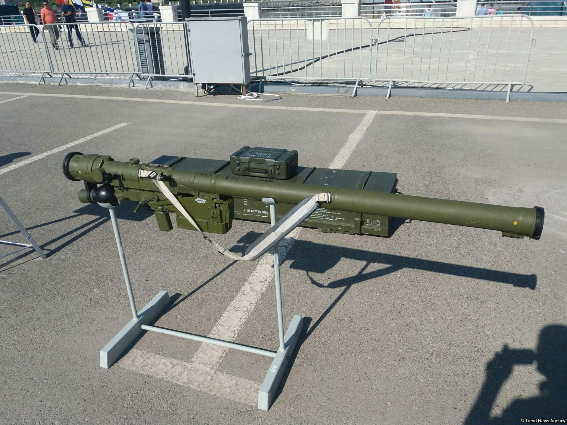Azerbaijani State Border Service showcases new missile system at military exhibition in Baku (PHOTO)