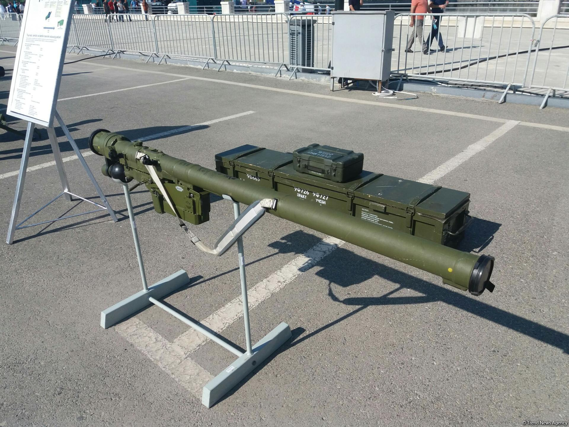 Azerbaijani State Border Service showcases new missile system at military exhibition in Baku (PHOTO) - Gallery Image