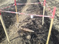 Unexploded cannon shell discovered in Azerbaijan's Fizuli district (PHOTO) - Gallery Thumbnail