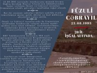 Azerbaijani Foreign Ministry prepares infographics on 26th anniversary of occupation of Fizuli, Jabrayil districts (PHOTO) - Gallery Thumbnail