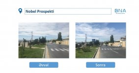 Baku Transport Agency renewing road infrastructure (PHOTO) - Gallery Thumbnail