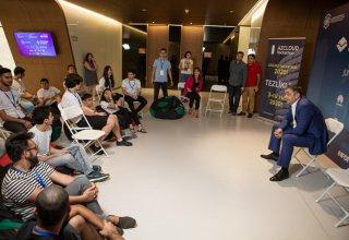 Рамин Гулузаде встретился с участниками конкурса AZCLOUD Hackathon 2019